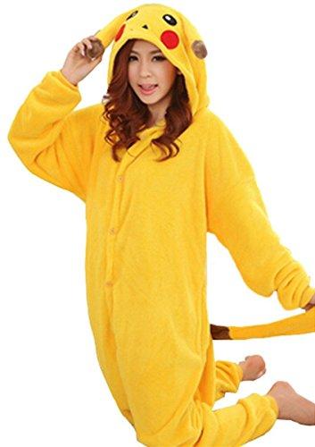 WOWcos® Unisex Adult Pikachu Onesie Cosplay Costume Pajamas Animal ... 9c43b9e5d