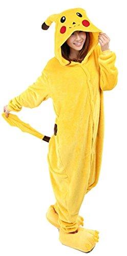 WOWcos® Unisex Adult Pikachu Onesie Cosplay Costume Pajamas ... aa496b3735db