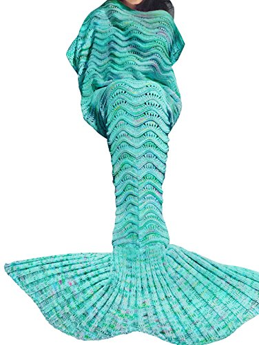 Yizyif Mermaid Fish Tail Princess Cosyplay Snuggle Fleece