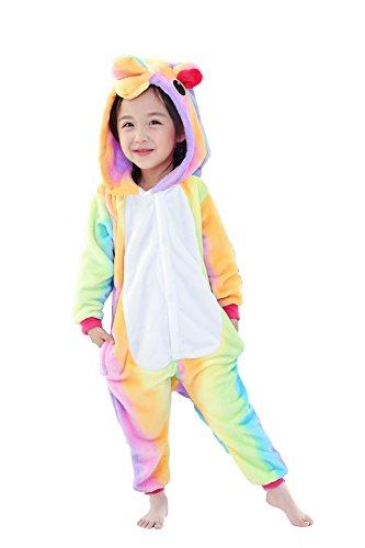 93cc579f1e5d JT-Amigo Kids Flannel Onesie - Rainbow Unicorn - onesie onesie