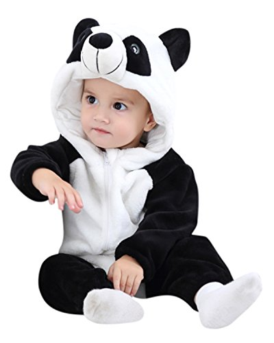 064ea9a75fa Baby Panda Onesie Black And White With Hood - onesie onesie