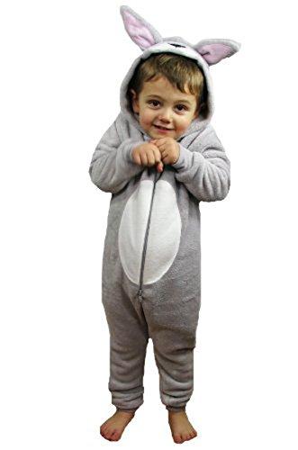 efd9a0343a62 Childrens Fluffy Fleece Bunny Onesie -Grey And White - onesie onesie